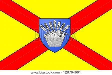 Flag of Bobigny is a commune or town in the northeastern suburbs of Paris France