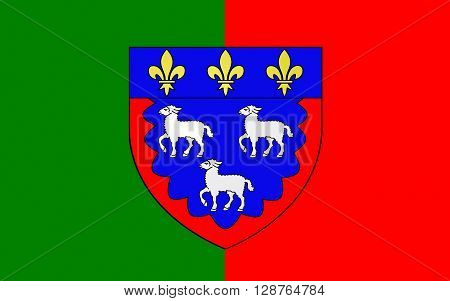 Flag of Bourges is a city in central France on the Yevre river. It is the capital of the department of Cher and also was the capital of the former province of Berry