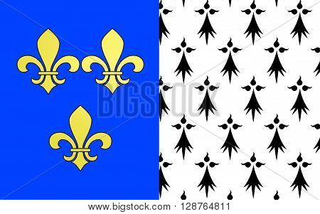 Flag of Brest is a city in the Finistere departement in Brittany in northwestern France