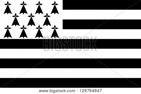 Flag of Brittany is one of the 18 regions of France. The regional capital is Rennes.