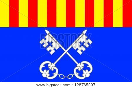 Flag of Ceret is a commune in the Pyrenees-Orientales department in southern France. It is the capital of the historic Catalan comarque of Vallespir.
