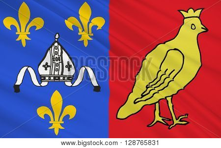 Flag of Charente-Maritime - department in western France a department of the region of Poitou - Charentes. The administrative center - La Rochelle.