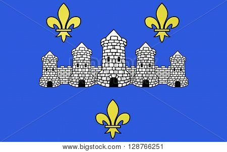 Flag of Chateau-Thierry is a French commune situated in the department of the Aisne in the administrative region of Picardy and in the historic Province of Champagne.