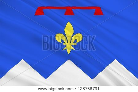 Flag of Alpes-de-Haute-Provence is a French department in the south of France it was formerly part of the province of Provence