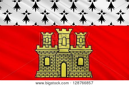 Flag of Dinan is a walled Breton town and a commune in the Cotes Armor department in northwestern France.