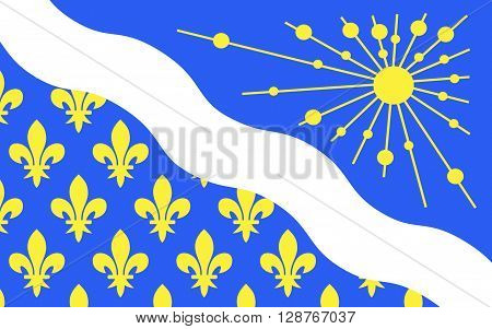Flag of Essonne is a French department in the region of Ile-de-France. It is named after the Essonne River.