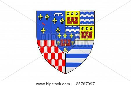 Flag of Evry is a commune in the southern suburbs of Paris France prefecture of the department of Essonne