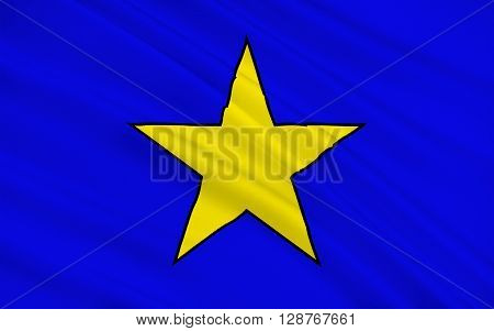 Flag of Istres is a commune in southern France it is in the Provence-Alpes-Cote Azur region in the Bouches-du-Rhone department