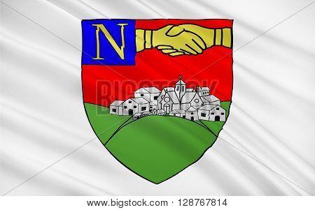 Flag of La Roche-sur-Yon is a commune in the Vendée department in the Pays de la Loire region in western France