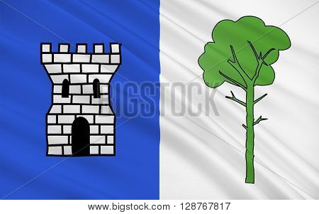 Flag of La Tour-du-Pin is a commune in the Isere department in southeastern France