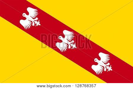 Flag of Lorraine is a cultural and historical region in north-eastern France now located in the administrative region of Alsace-Champagne-Ardenne-Lorraine.