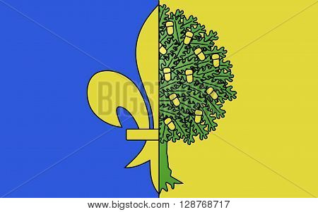 Flag of Mantes-la-Jolie is a commune based in the Yvelines department in the Ile-de-France region in north-central France
