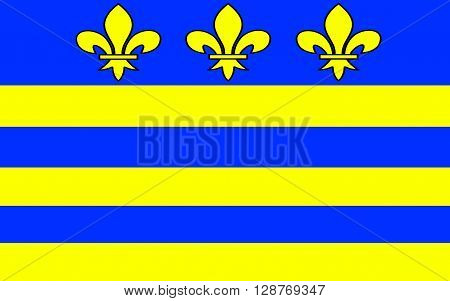 Flag of Montreuil or Montreuil-sur-Mer is a sub-prefecture in the Pas-de-Calais department in northern France. It is located on the Canche river not far from Etaples