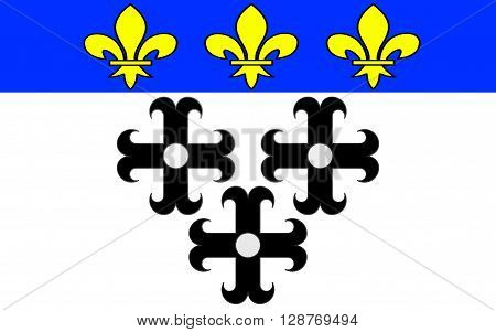 Flag of Moulins is a commune in central France capital of the Allier department. It is located on the Allier River