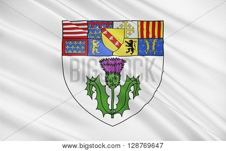 Flag of Nancy is the capital of the north-eastern French department of Meurthe-et-Moselle and formerly the capital of the Duchy of Lorraine and then the French province of the same name