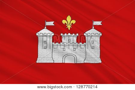 Flag of Perigueux is a commune in the Dordogne department in Aquitaine in southwestern France.