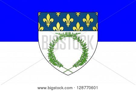 Flag of Reims a city in the Alsace-Champagne-Ardenne-Lorraine region of France