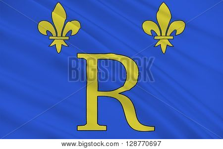 Flag of Riom is a commune in the Puy-de-Dome department in Auvergne in central France. It is a sub-prefecture of the department.