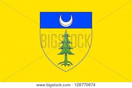 Flag of Saint-Claude is a commune in the Jura department in the Bourgogne-Franche-Comte region in eastern France.