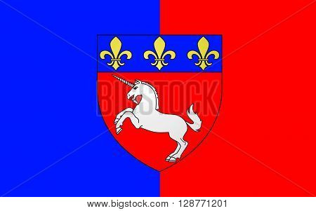 Flag of Saint-Lo is a commune in north-western France the capital of the Manche department in the region of Normandy.