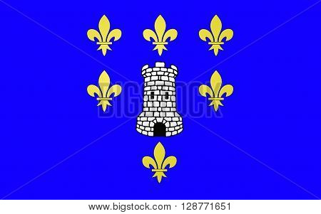Flag of Sens is a commune in the Yonne department in Bourgogne-Franche-Comte in north-central France