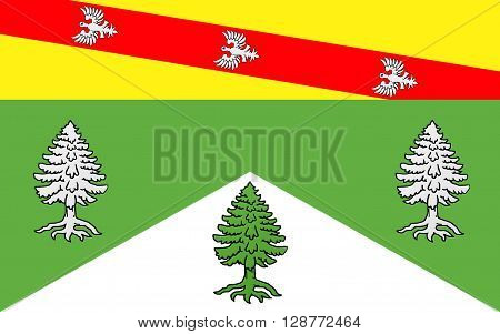 Flag of Vosges is a department in the east of France named after the Vosges Mountains.