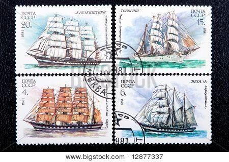 Jahrgang antiken Briefmarke