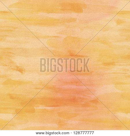 A seamless background pattern with muted strokes of golden colored paint with subtle yellow and sepia shades