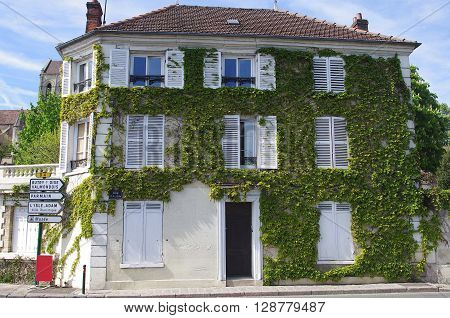 Traditional house in Auvers Sur Oise, France