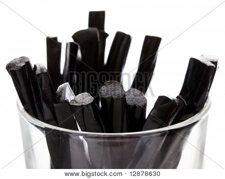 licorice in the glass
