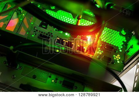 Storage Servers In Data Room Domestic Room Long Exposure Technique