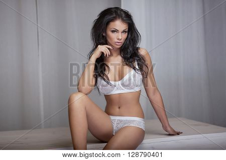 Sexy Girl In Lingerie Posing.