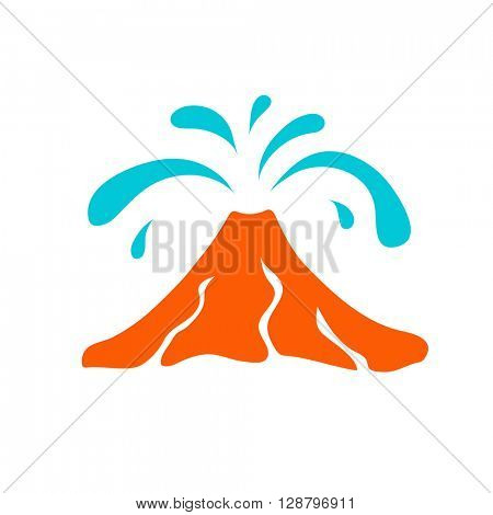 Water geyser logo, vector illustration