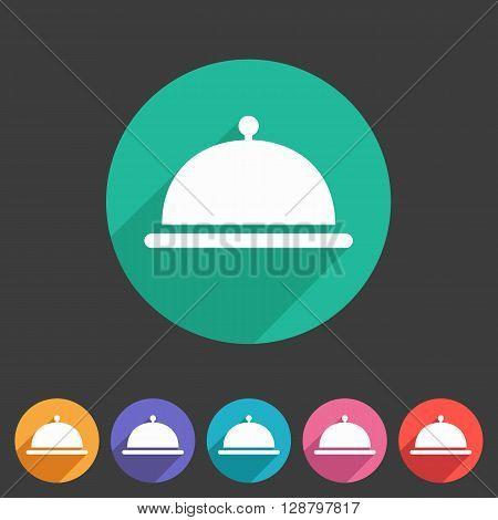 Food platter dish meal icon iweb sign symbol logo label set