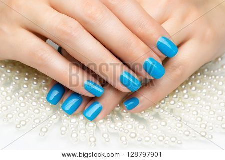 Beautiful Woman's Nails With Nice Stylish Manicure