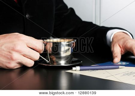 director in private office