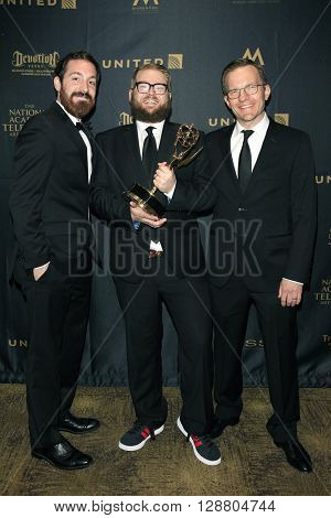 LOS ANGELES - APR 29: Daniel de Graaf, Adam Lupsha,Mike Houston at The 43rd Daytime Creative Arts Emmy Awards Gala at the Westin Bonaventure Hotel on April 29, 2016 in Los Angeles, California