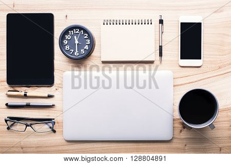 Desktop With Office Tools