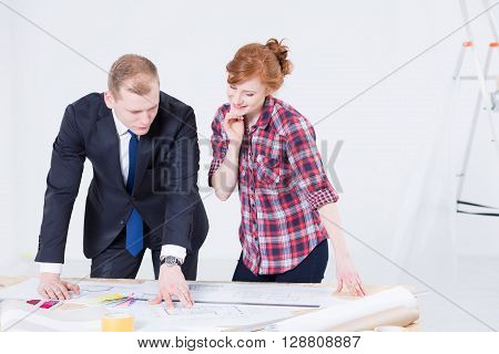 Explaining Project Details To Her