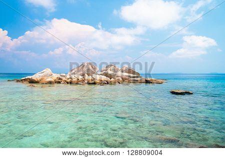 Blue Seascape Big Stones