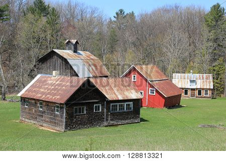 A group of farm building in Sleeping Bear Dunes National Lakeshore, Michigan