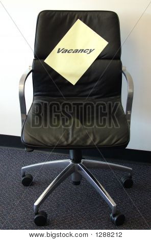 Vacancy Black Chair