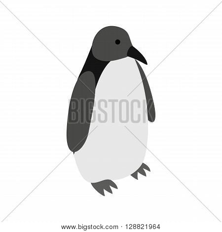 Penguin icon in isometric 3d style on a white background