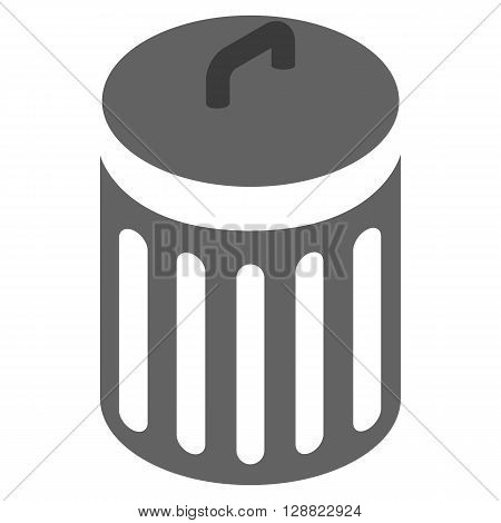 Trash can icon in isometric 3d style on a white background
