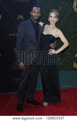LOS ANGELES - APR 29: Anthony Montgomery, Lisa LoCicero at The 43rd Daytime Creative Arts Emmy Awards Gala at the Westin Bonaventure Hotel on April 29, 2016 in Los Angeles, California