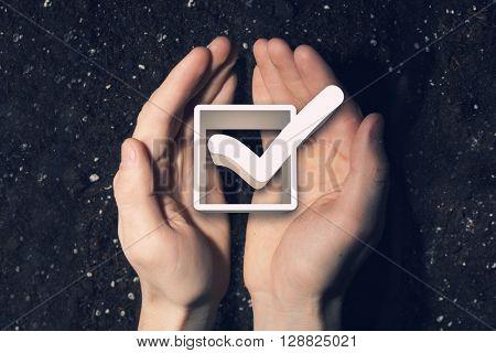 Tick box in palms