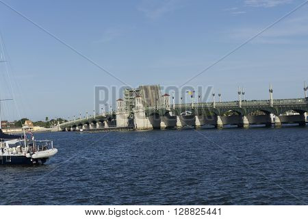 Bridge of Lions drawbridge at Saint Augustine,Florida