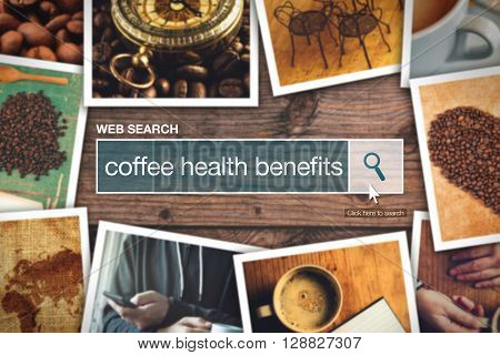 Web search bar glossary term - coffee health benefits definition in internet glossary.