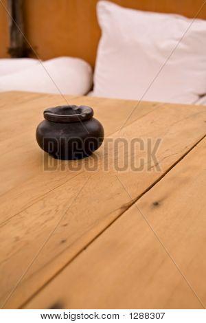 Ashtray On A Table