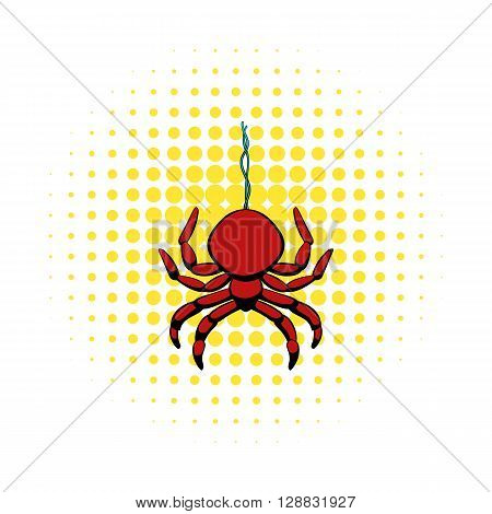 Spider icon in comics style on a white background